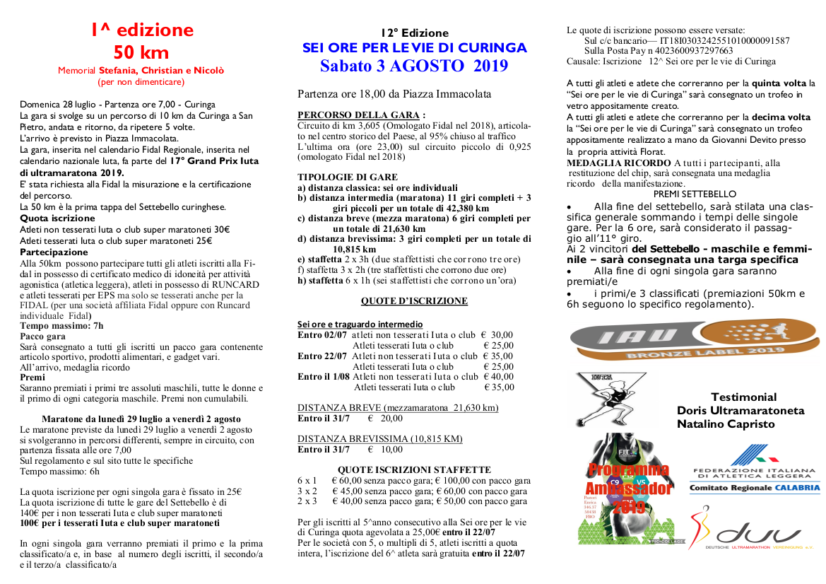 Calendario Fidal Calabria.Curinga Marathon Sito Ufficiale Della Maratona Di Curinga